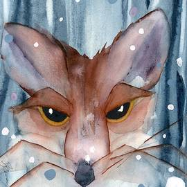 Fox In The Evening Snow by Dawn Derman