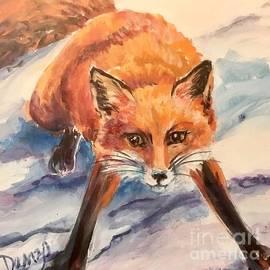 Fox in the snow by Lorraine Danzo