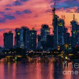 Frankfurt Germany Skyline by Norma Brandsberg