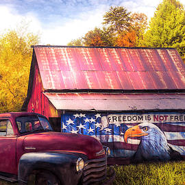 Freedom is not Free Autumn Painting by Debra and Dave Vanderlaan