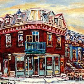 Fresh Bread Slice Pizza Peloponissos Bakery Corner Napoleon And Debullion C Spandau Montreal Stores by Carole Spandau