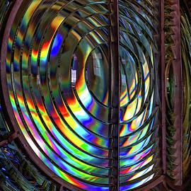 Fresnel Lens Point Arena Lighthouse by Kathleen Bishop