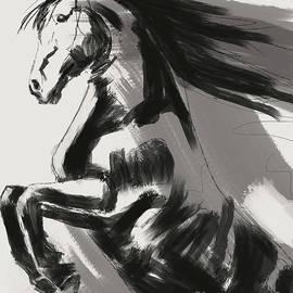 Frisian Rising Horse by Go Van Kampen