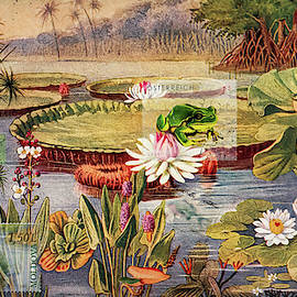 Frogs At The Lily Pond by Bellesouth Studio