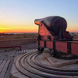 Ft. Pickens Cannon at Sunset by Bill Chambers