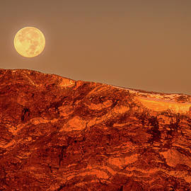 Full Moon Over Mount Ida by Eric Glaser
