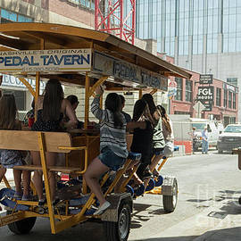Fun on a Pedal Tavern in Nashville by Patricia Hofmeester
