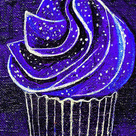 Galactic Universe Cupcake by Genevieve Esson