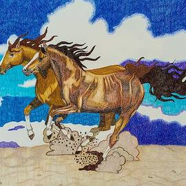 Galloping in Sand by Equus Artisan
