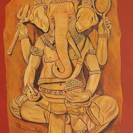 Ganesha in Pensive Mood by Ajay Harit