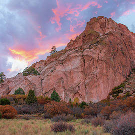 Garden Of The Gods Rainbow Sunset by Kristia Adams