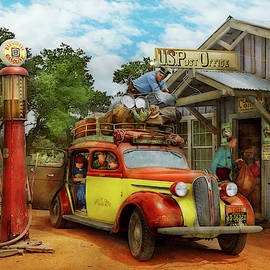Gas Station - Fresh delivery to Pie Town 1940 by Mike Savad