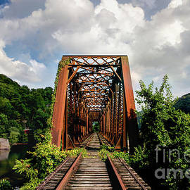 Gauley River Trestle Bridge  by Norma Brandsberg