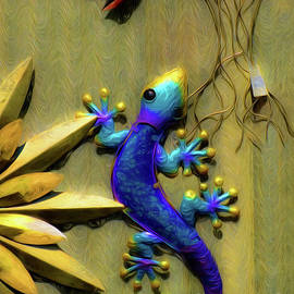 Gecko in Wall Art by Mike Nellums