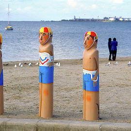 Geelong Bollards #1 by Jerry Griffin