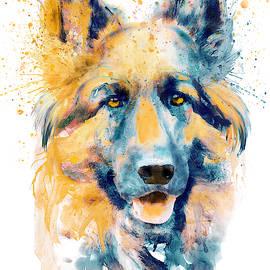 German Shepherd Dog Portrait by Marian Voicu