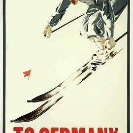 Germany Vintage Winter Sports Poster by Movie Poster Prints