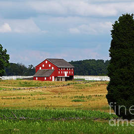 Red Barn on Sherfy Farm Gettysburg by James Brunker