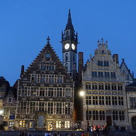 Ghent's Graslei at Night by Patricia Caron