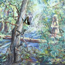 Girl And Butterflies Far North Queensland Rainforest by Ryn Shell