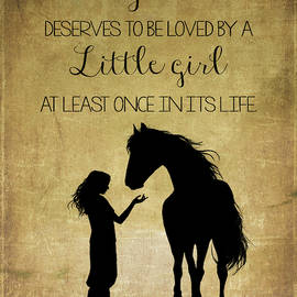 Girl and Horse Silhouette  by Teresa Wilson