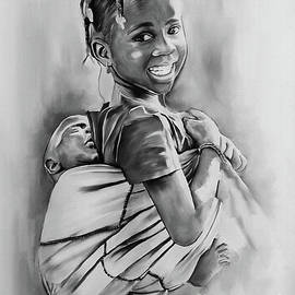 Girl carrying child  by Gull G