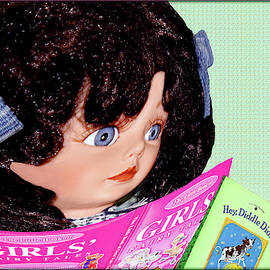 Girl Doll Reading by Constance Lowery