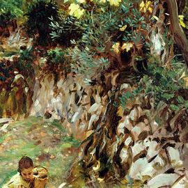 Girls Gathering Blossoms, Valdemosa, Majorca by John Singer Sargent