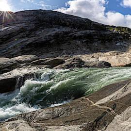 glacial stream Nigardsbreen Glacier, Norway by Andreas Levi