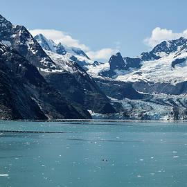Glacier Running Into Ocean  by Edward Garey