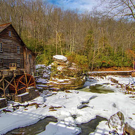 Glade Creek Mill in Winter by Norma Brandsberg