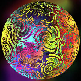 Multicolored    Glass Orb by Grace Iradian