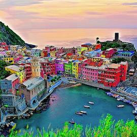 Glorious Cinque Terre Sunrise  by Frozen in Time Fine Art Photography