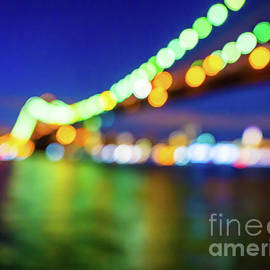 Glowing Brooklyn Bridge Lights by Alissa Beth Photography