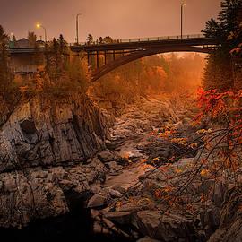 Glowing Canyon Grand Falls New Brunswick by Yves Gagnon