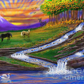 Golden Falls by Gary F Richards