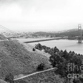 Golden Gate Bridge In Black-white by Christiane Schulze Art And Photography