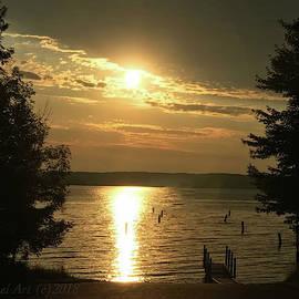 Golden Sunset at Hunter's Point by Mirriquel Art