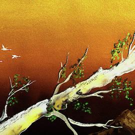 Golden Sunset In The Mountains by Irina Sztukowski