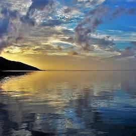 Golden Tahitian Sunrise by Heidi Fickinger