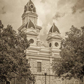 Goliad Courthouse In Sepia by Imagery by Charly