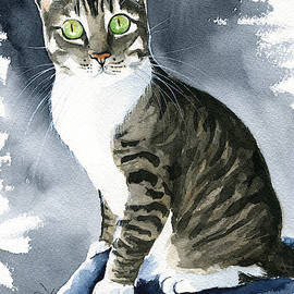 Gracie Mae Cat Painting by Dora Hathazi Mendes