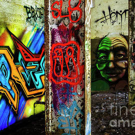 Graffiti Art Urban Exploration 13 by Bob Christopher