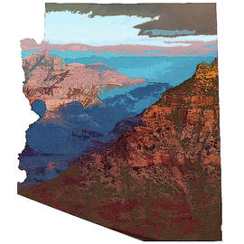 Grand Canyon In The Shape Of Arizona by Chance Kafka