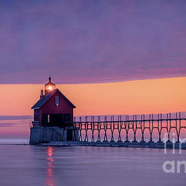 Grand Haven Lighthouse Catwalk, Michigan by Liesl Walsh