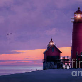 Grand Haven Lighthouses, Michigan by Liesl Walsh