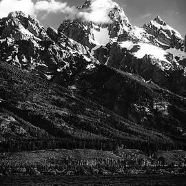 Grand Teton Sunrise - B W by Mark Fuge