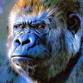 Grandpa Gorilla Portrait by Scott Wallace Digital Designs