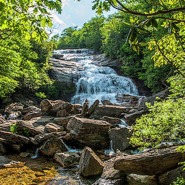 Graveyard Fields Lower Falls by Ginger Stein