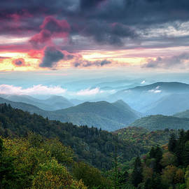 Great Smoky Mountains Sunset Landscape Cherokee North Carolina by Dave Allen